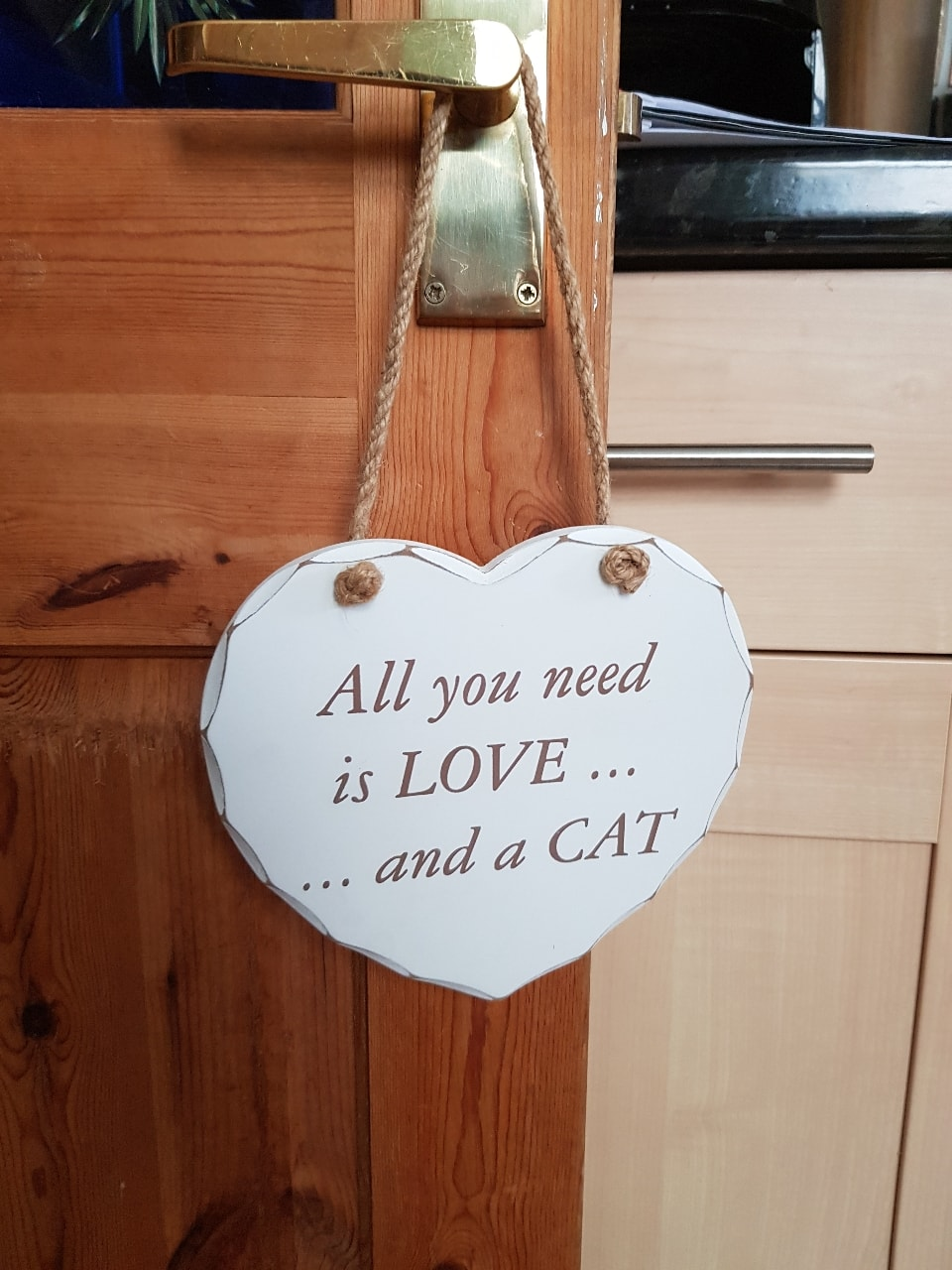 Heart shaped wooden sign