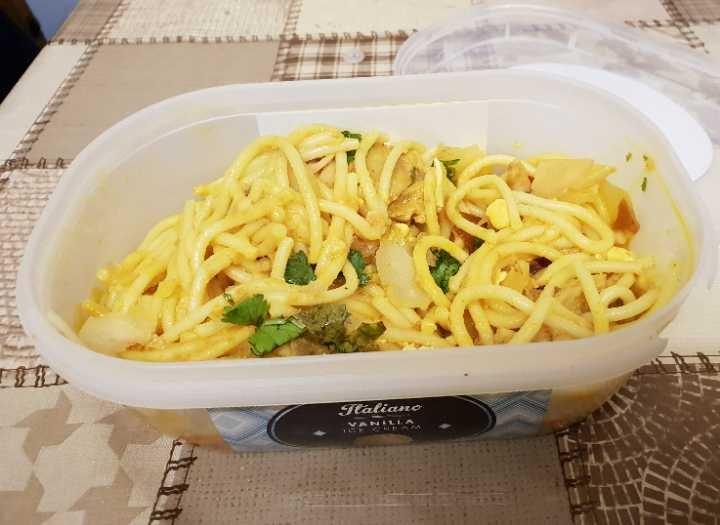 Indian Style Chicken Spaghetti