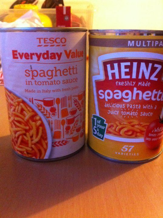 Tinned spaghetti