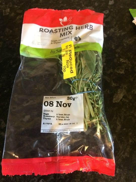 Roasting herb mix