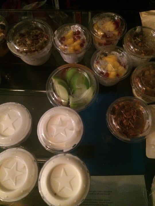 Mango chia pots , Bircher Muesli  , up to 10 p m , 11 am tomorrow