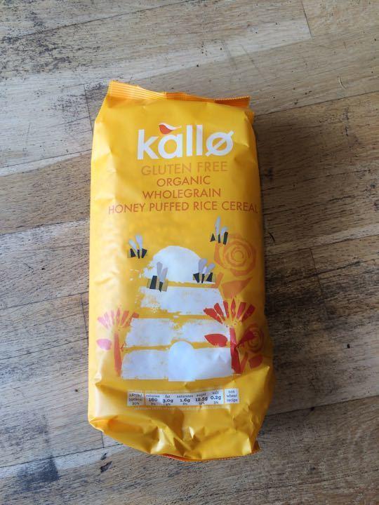 Kallo honey puffed rice cereal
