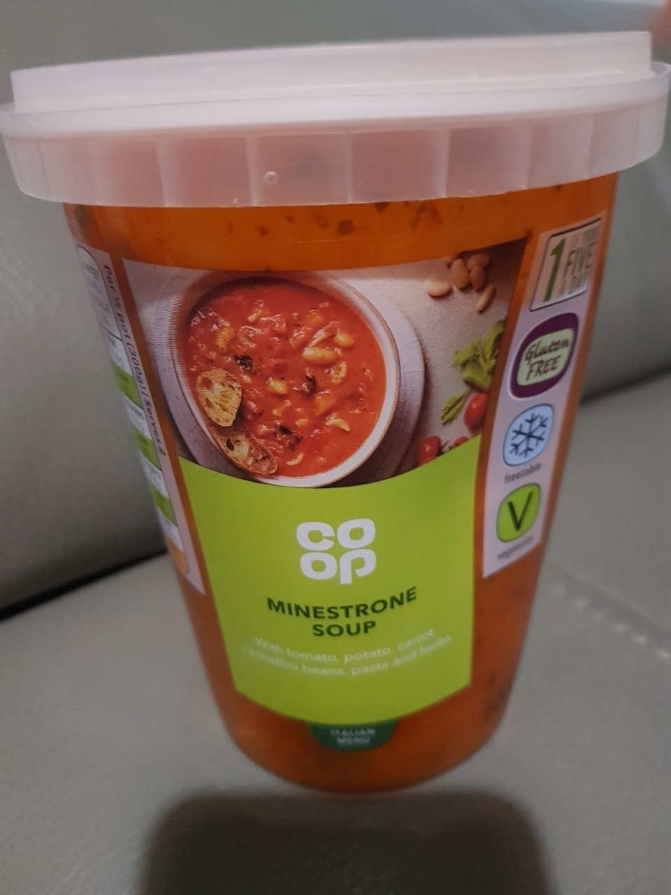 Minestrone soup- must collect tonight before 11pm