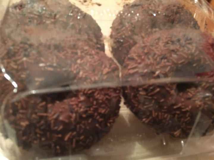 Chocolate iced ring doughnut