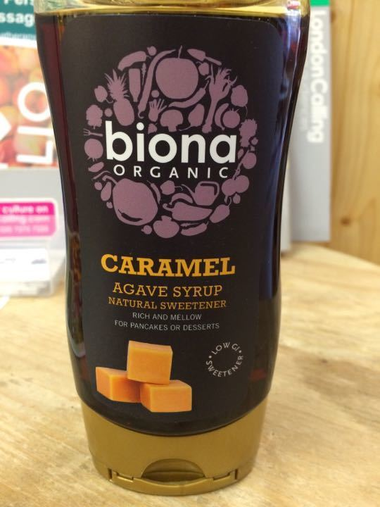 caramel agave syrup, 350g