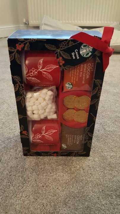 Starbucks hot chocolate gift set BBE April 2017