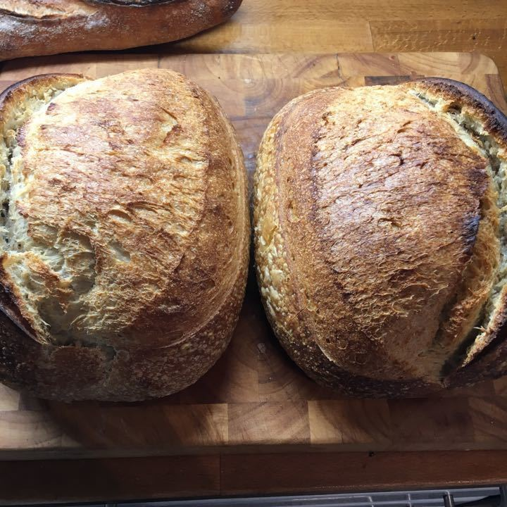 Organic sourdough loaves