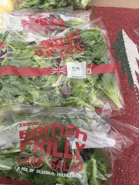 Frilly leaf salad