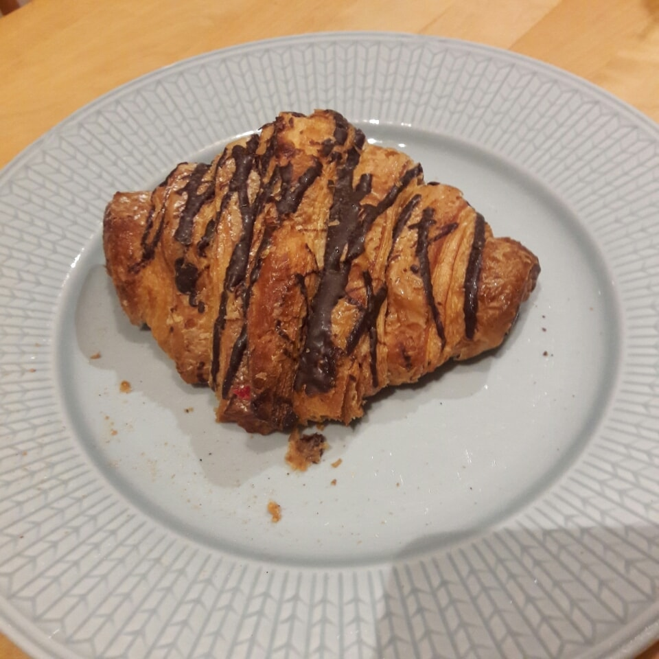Fresh croissant from Lindquists Konditori (1st Feb)