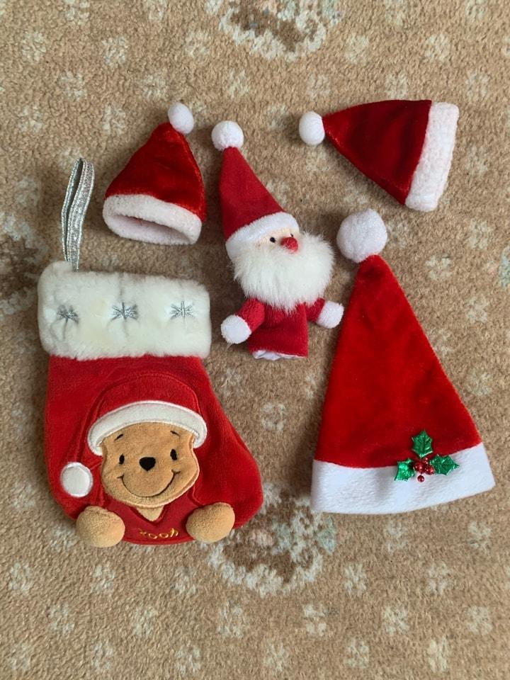 Xmas stocking and hats