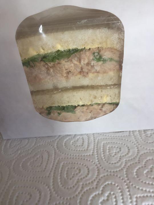 Tuna mayo on white