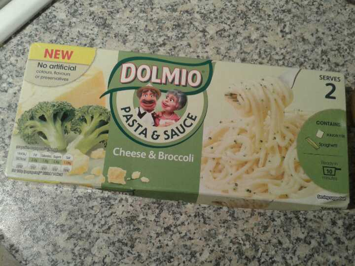 Cheese and broccoli pasta Dolmio
