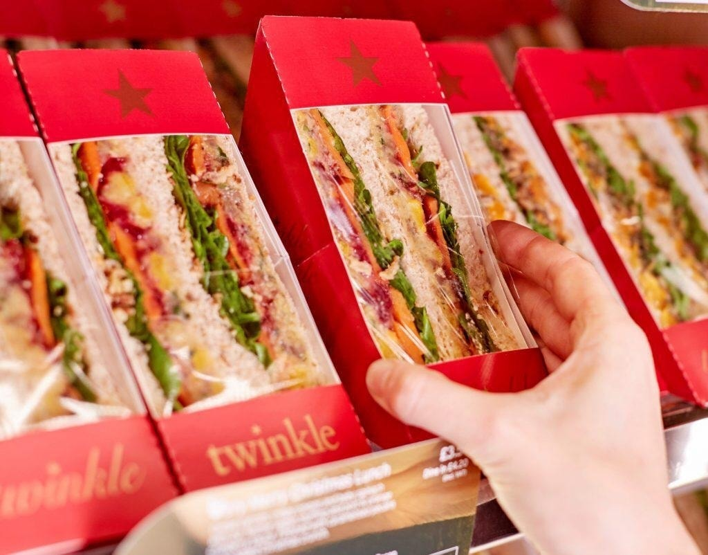 Pret's veggie Christmas lunch sandwich