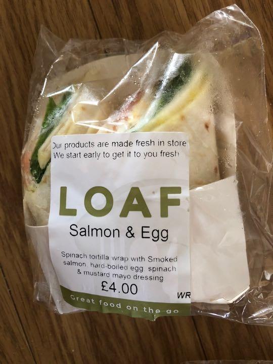 Salmon and egg wrap