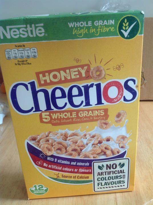 Honey cherrios from Temple Stores