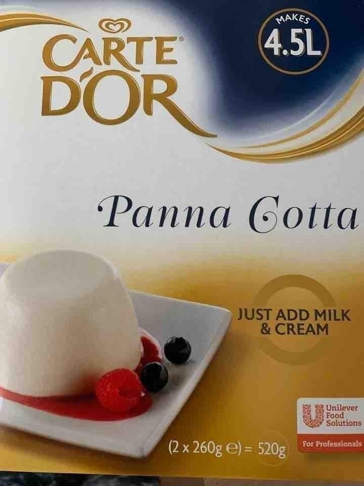 Panna cotta dessert powder mix