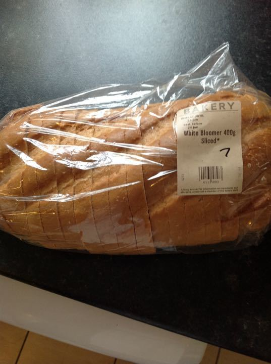 White sliced bread 400g