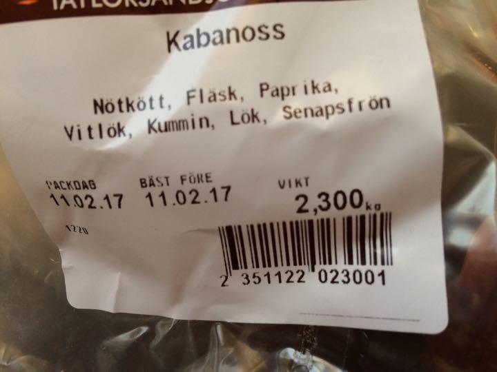 Kabanoss sausages