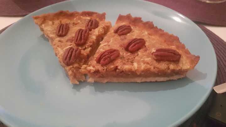 Two slices fresh Pecan Pie