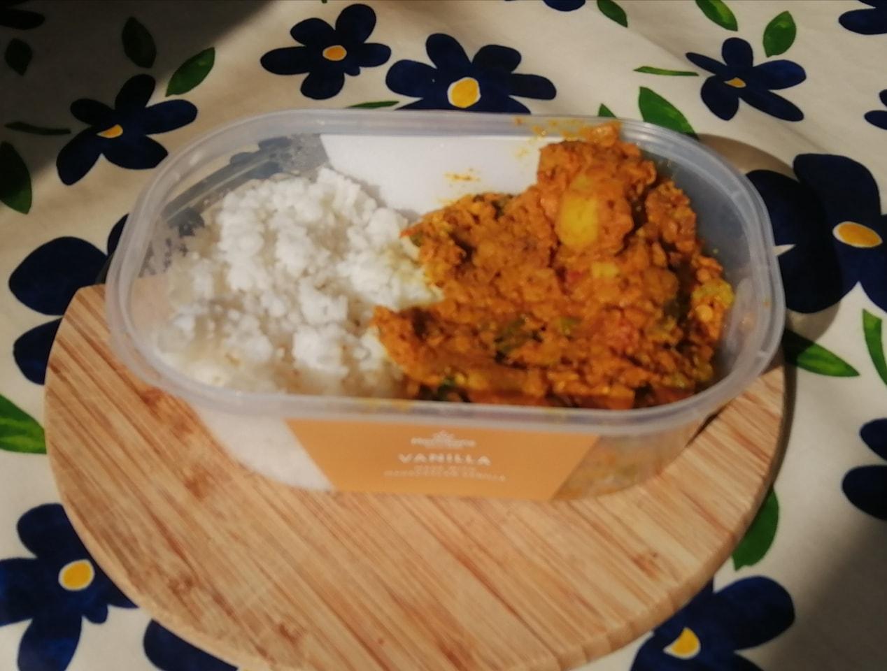 Veggie lentil Dahl style - with rice