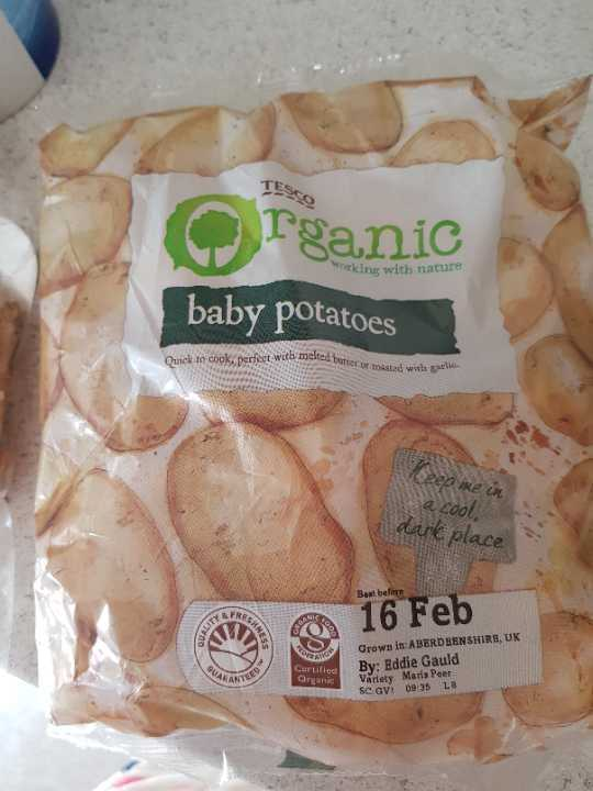 Organic baby potatoes