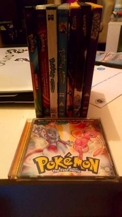 Pokemon dvds 📀 1 to 5 + pokemon first movie cd 💿