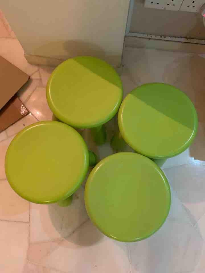ikea green stools
