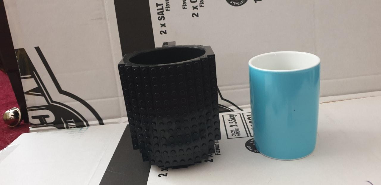 Lego mug and mug