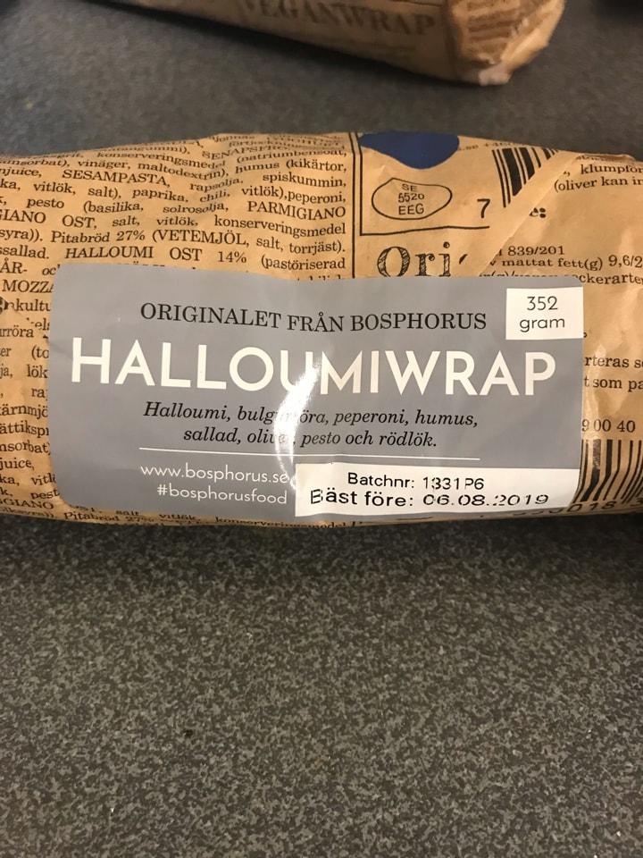 Halloumi wrap from My Way (06/08)