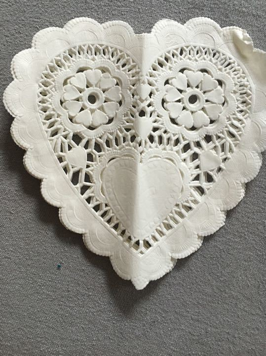 Heart Shaped Doilies (Valentine's Day)