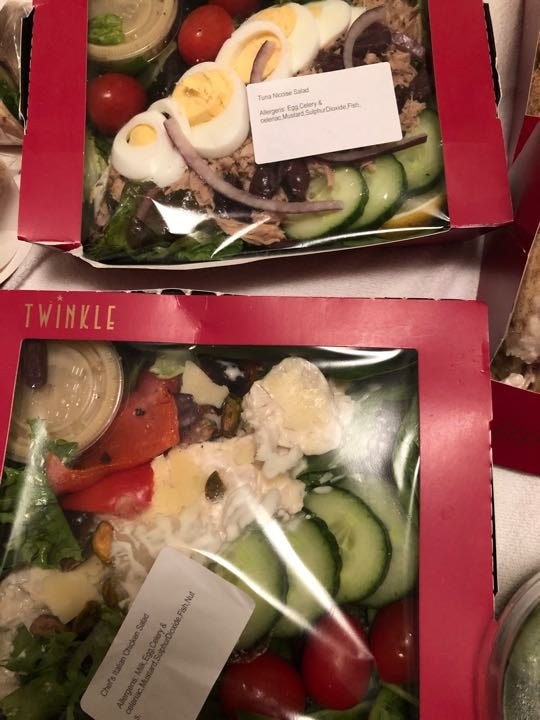 1chefs Italian chicken salad + 1 tuna nicoise