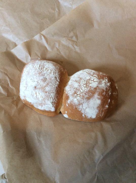 White flour buns