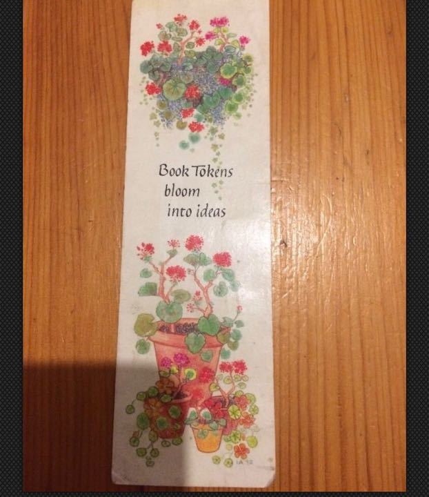Vintage Book Tokens Flowers Paper bookmark