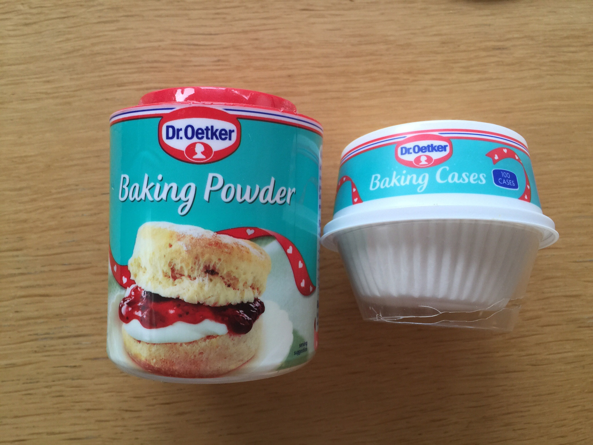 Baking powder and cupcake liners