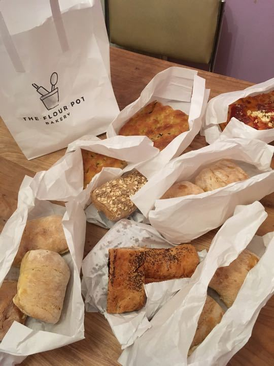 Savoury bits from flour pot