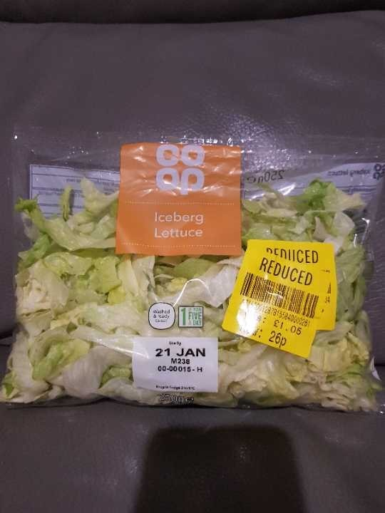 Iceberg lettuce - must be collected before 11pm