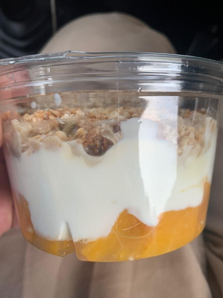 Peach and Yogurt Pot