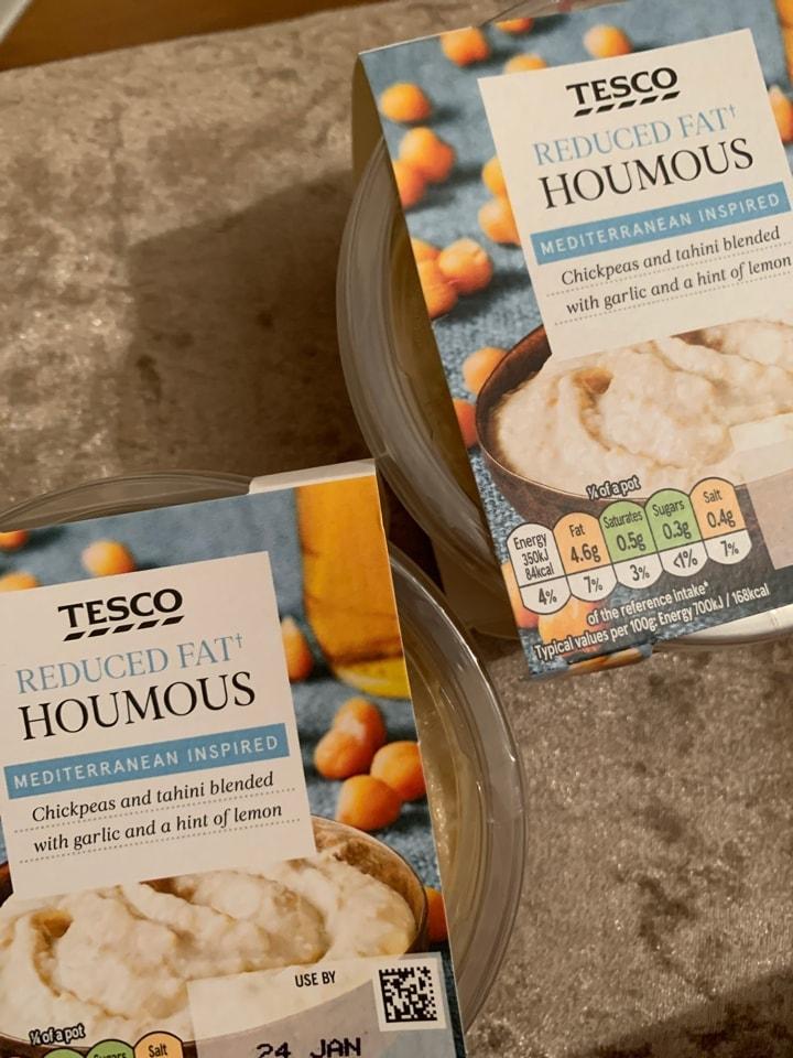 Tesco reduced fat houmous