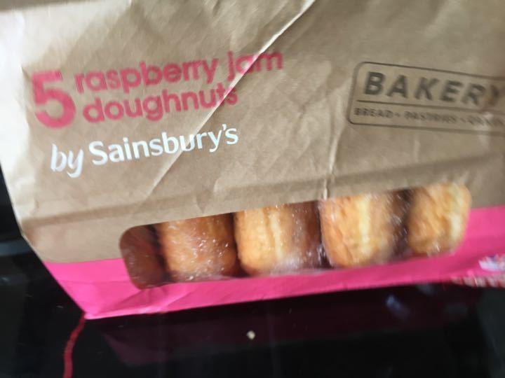 Raspberry jam doughnut