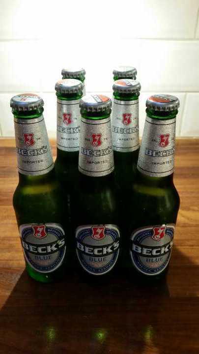 7 bottles of Becks Blue alcohol free beer