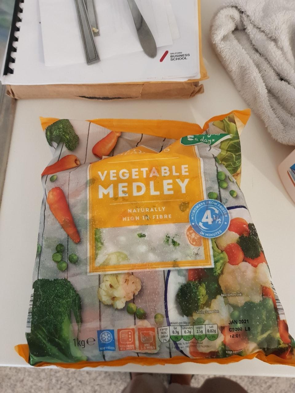 Frozen vegetable medley unopened