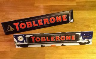 Two huge Toblerones