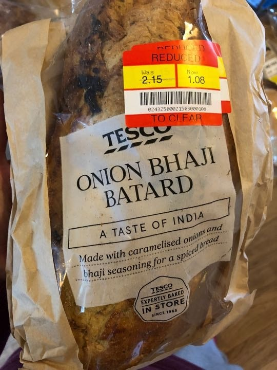 Onion Bhaji bread