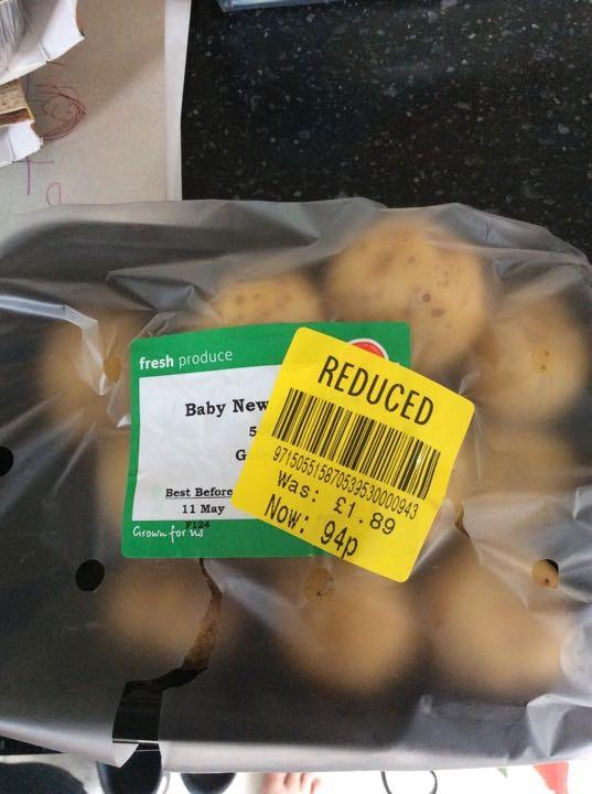 Baby new potatoes x3