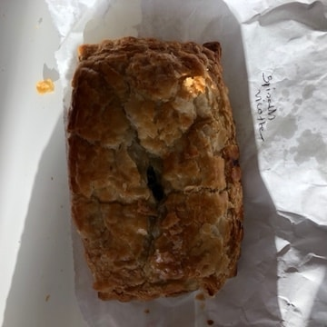 Spinach and ricotta pasty