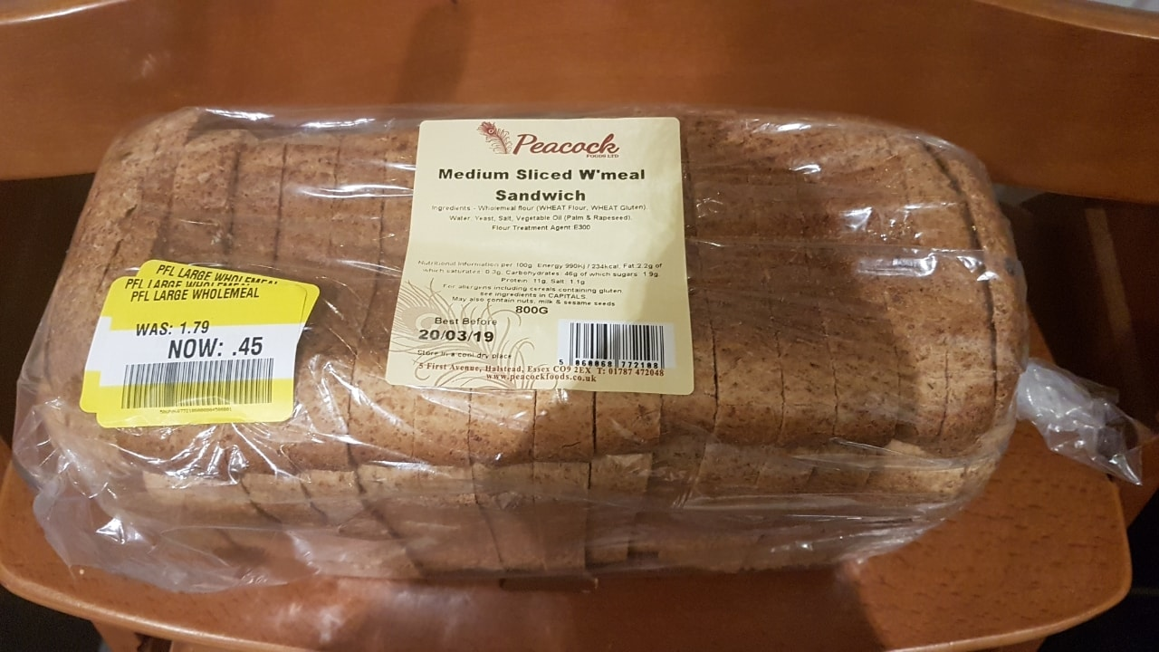Medium sliced Wholemeal loaf