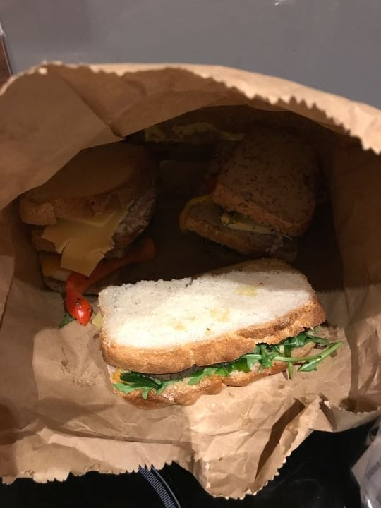 Sandwiches from Beyond Bread at Selfridges