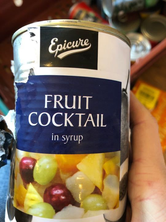 Fruit cocktail in syrup