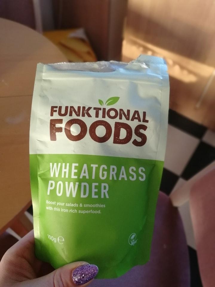 Wheatgrass powder from Aldi