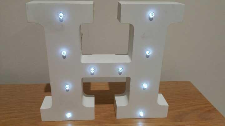 Light up letter H